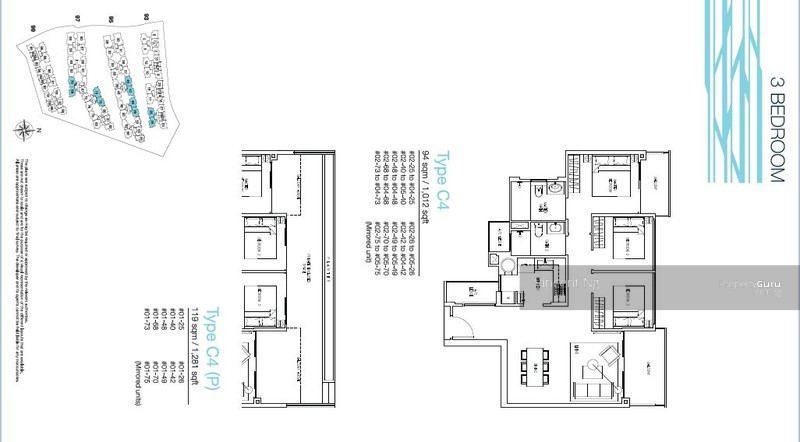 The Nautical Official Floor Plans For 3bedroom Register